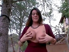 Lengthy Haired Alison Tyler With Pretty Face And Dark Make