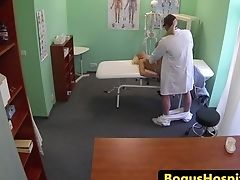 Blonde Patient Slit Fucked In Doctors Office