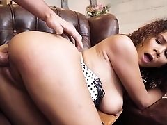 Curly Beauty Cunt Fucked Hard And Jizzed On Face