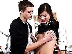 Nubile Little Caprice And Hot Blooded Boy Have Oral Fuck-fest For Camera For You To Witness And Love