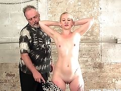 Brief Haired Pallid Bitch With Natural Tits Lolani Gets Her Butt Smacked Indeed Hard