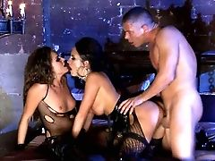 Two Horny Brunettes In Black Alektra Blue And Tori Black