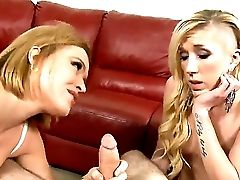 Hard-core Fantasy As This Sexy Mommy With Big Tits, Trains Her Daughter-in-law How To Suck Man Sausage. Staring Pornographic Star Krissy Lynn And Maia