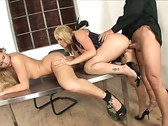 Horny Female Manager Brooklyn Lee Is Having Dirty Threesome Fucky-fucky In Her Office