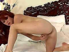Sizzling Sandy-haired Elle Alexandra Strokes Her Pallid Bod And Frigs Her Pink Cunt In A Flawless Solo