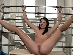Tied Up Crucified Whore Silky Is Worth Being Rigorously Used Today