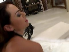 Pretty Dark-haired Franceska Jaimes Gets Her Nice Snatch Touched By