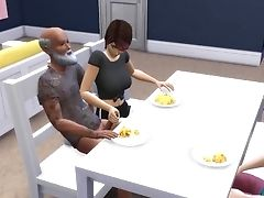 'ddsims - Homeless Man Fucks Wifey In Front Of Hubby - Sims Four'
