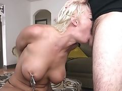 Wild Tying Tart With Big Boobies London Sea Is Fucked By Excited Studs