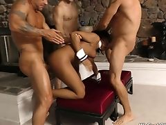 Rough Gang-bang Fucking With Black Ultra-cutie Jazzy Jamison. Hd