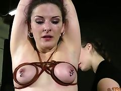 Some Female Dom Restraint Bondage Intercourse Games With A Nasty Whore Caroline Pierce