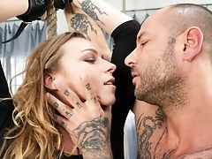 Lengthy Haired Honey Angel Emily Is Fucked By Brutal Bald Headed Bf