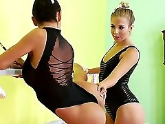 Pro Dancers Chastity Play Lynn And Franceska Jaimes Become Horny At The Repetition
