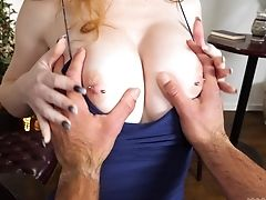 Nude Chesty Red-haired Gets Her Dose In Flawless Point Of View
