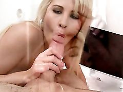 Blonde Jessica Nyx Pleases Guys Sexual Needs And Desires And Then Gets Her Pretty Face Covered In Gloppy Nectar