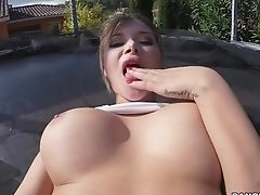 Sexy Paramour Anna Polina Inhales A Fuck Stick And Gets Her Booty Poked
