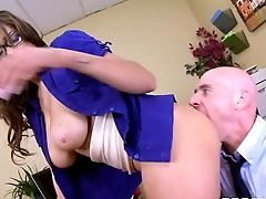 Bald Fellow Johnny Sins Pulls Out His Nice Trouser Snake To