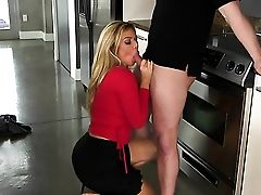 Blonde Lexxxus Adams With Shaven Twat Makes Her Fuck-a-thon Fucking Partner Jizm In Steamy Hump Act