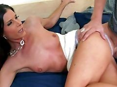Beautiful Skinny Black-haired India Summer, His Acquaintance's Mom, Is Next