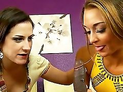 Mom In Law Addie Juniper Instructs Her Sexy Stepdaughter Marry Lynn How To Suck Lengthy Dick