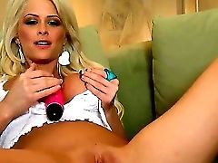 Rebellious Buxom Blonde Emily Addison Can Not Begin The Day Sans Gash Fumbling