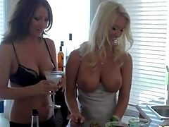 Big-chested Sweethearts Blonde Molli Cavalli And Her Dark Haired Friend