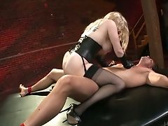 Superior Buxom Blonde Whore Aiden Starr Rails Dick Of Crucified Man