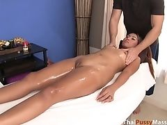 Sexy Thai Inexperienced Massaged And Fucked On The Table