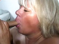 Matures Blonde With A Hairy Vulva Sucking The Erected Dong