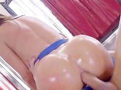 Nikki Benz Leads Man's Muscular Spunk-pump Right Up Her Butt Fuck-hole