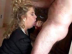 Horny Granny Karen Summer Leans Over In The Middle Of