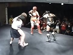 Japanese Nude Lezzies Grappling
