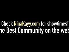 Fucky-fucky Fiend Nina Kayy Bangs Big Black Cock Bf & Cougar Lawyer Sara Jay!