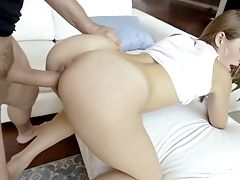 Amazing Bootyful Gf Kirsten Lee Is Fond Of Leaping On Strong Manmeat