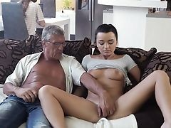 Teenage With Amazing Forms, Insane Intercourse Have Fun With Old Man