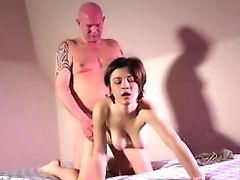 Big Breasts Chick Takes The Potency Out Of Old Dude