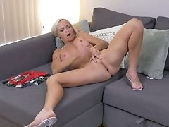 Stunning Towheaded Matures Woman Dani Dare Is Playing With Her Spread Vag