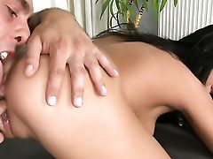 Tattooed Aida Sweet With Massive Hooters And Sleek Cooch Perceives Intense Sexual Desire While Getting Her Face Covered In Jizz