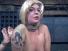Painful Torment Session For Hairless Head Abigail Dupree. Hd Movie