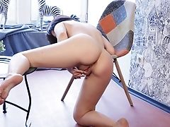 Hairless Cunny Solo Chick Anais A Squeals While Finger-tickling Her Jewel