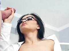 Ukrainian Brunet In Glasses Shrima Malati Has An Affair With One Elder Stud