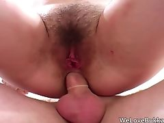 First-timer Dark-haired Gets Wrecked By Big Black Knobs