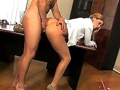 Biz Lady Brooklyn Lee Hired This Boy To Work Not Because His Abilities. She Is Interested In His Hard Youthfull Dick