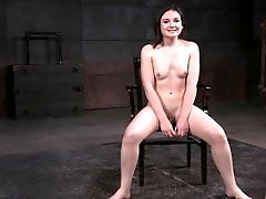 Curvy Honey Amy Faye Has To Suck The Dick While Being Imprisoned