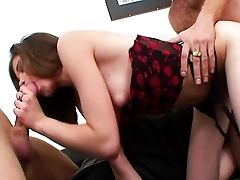 Little Caprice Threesome With Dual Popshot