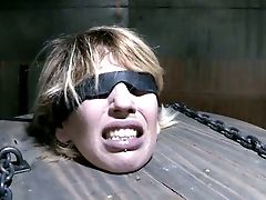 Tied Up Nude Chick Is Punsihed In Dark Torment Room