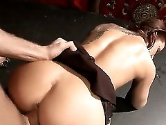Wonderful Nubile Chick With Awesome Sexy Rump Inari Vachs Is Being Prettily Fucked By The Hard Salami Of Her Gorgeous Bf James Deen, That Sure Likes F