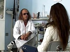 Dirty Gynecologist Thrusts His Dick Into His Nubile Patient